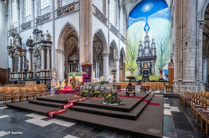 De Sint-Martinuskerk, een van de publiekstrekkers in Aalst.