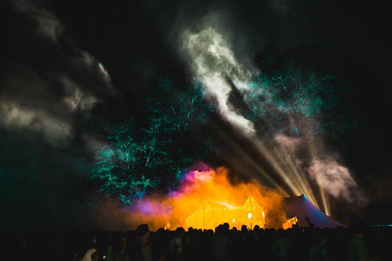 Het Twiske was 's avonds gehuld in spectaculaire lichten. Beeld De Fotomeisjes