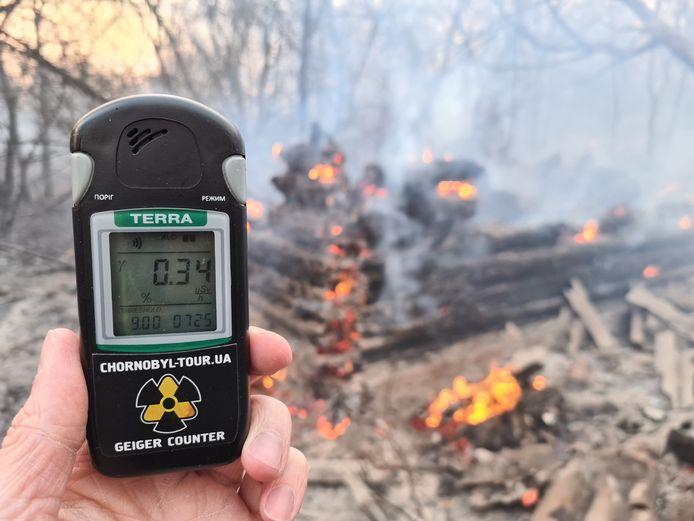 Volgens  de Oekraïense ecologische inspectiedienst was de straling flink gestegen, maar die bewering werd later ingetrokken.