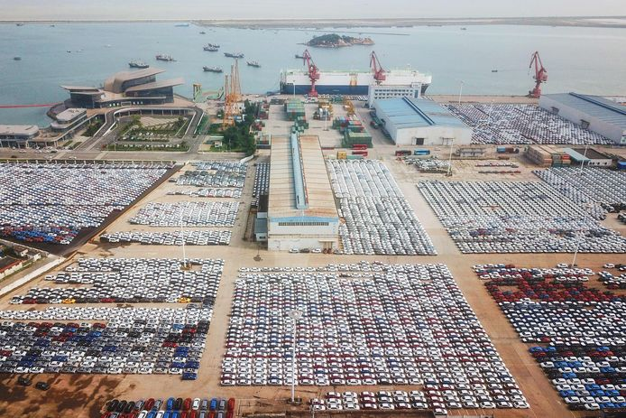 De haven van Lianyungang in China.