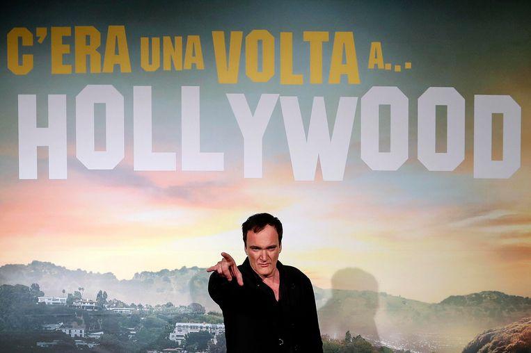 Quentin Tarantino bij de Italiaanse première van 'Once Upon a Time in Hollywood'. Beeld AP