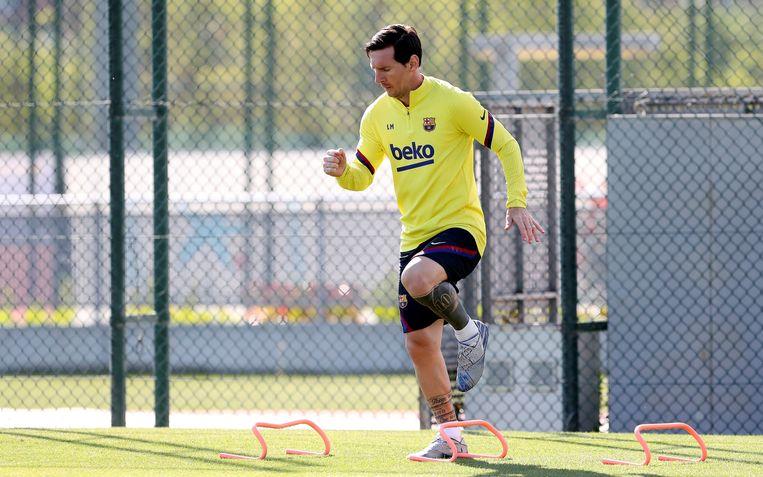 Messi, zonder baard, hervatte vorige maandag al de trainingen.