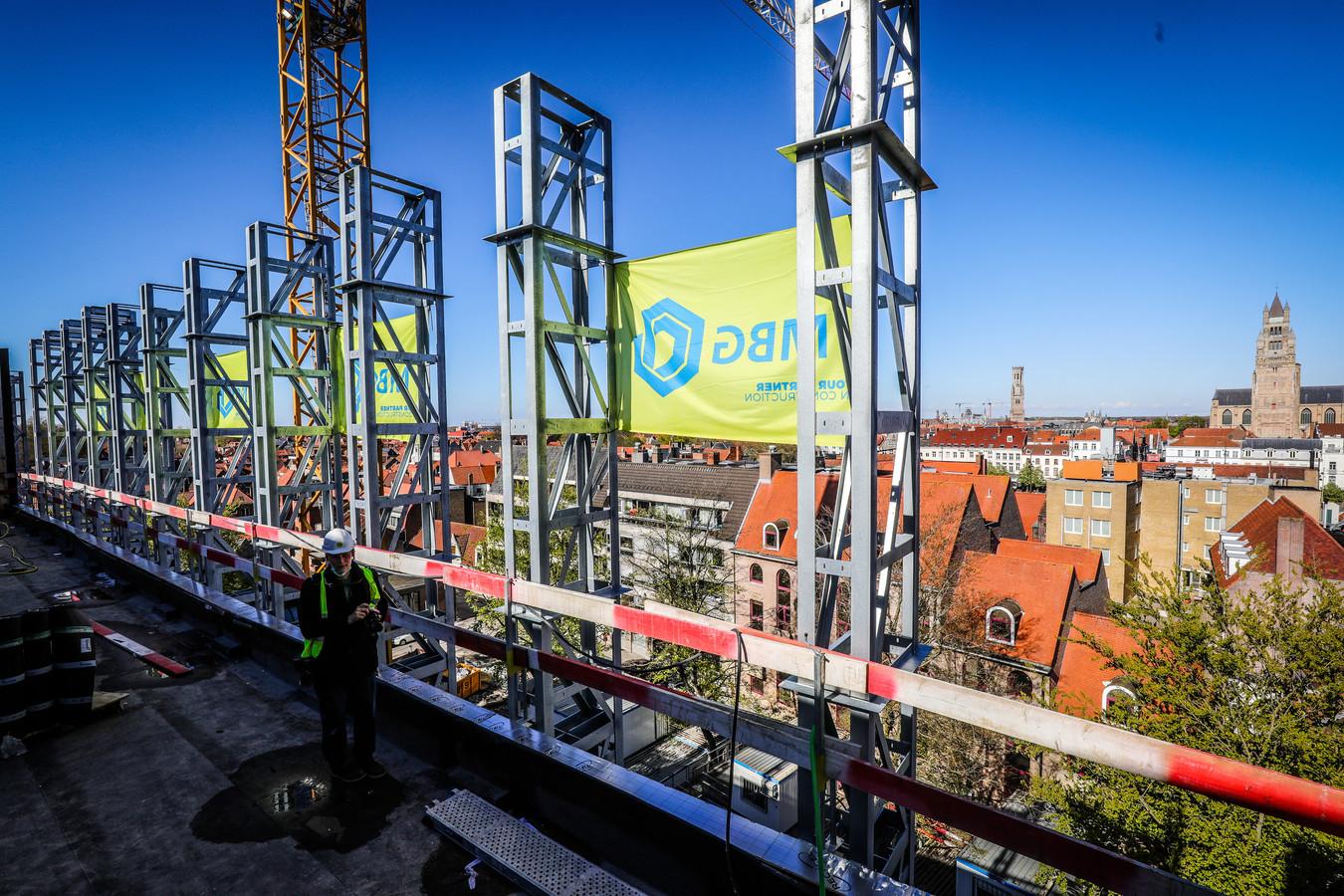 Het toekomstige terras biedt een uniek zicht over Brugge.