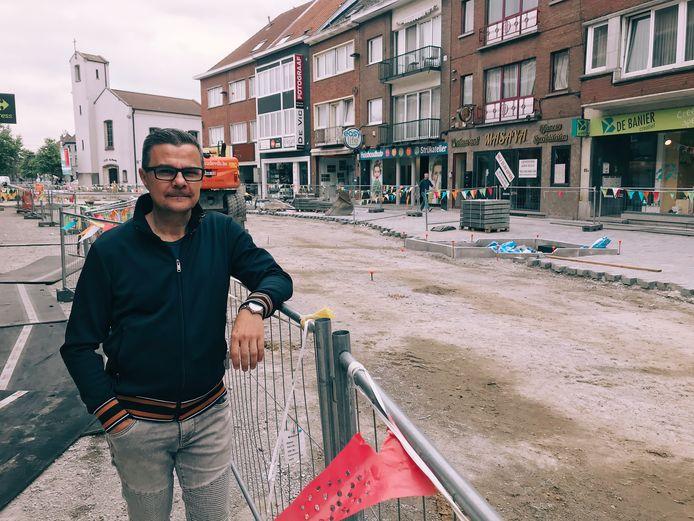 Handelaren Molenstraat bezorgd over de stilstand van de wegenwerken.