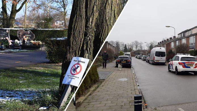 Nieuws gemist? Honden poepen op begraafplaats in Sambeek (links, Ed van Alem) en vrouw neergestoken in Duiven (DG).