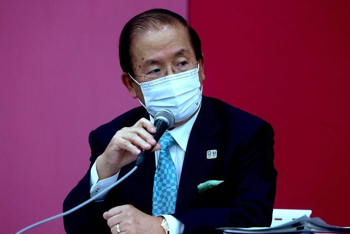 Toshiro Muto op de persconferentie vandaag.