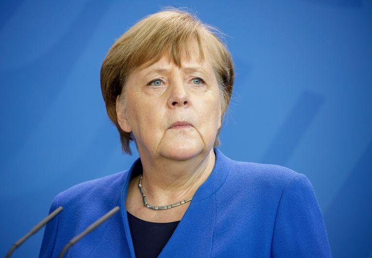 Donderdag meldde het journaal dat je in heel Duitsland alleen nog naar buiten mag met een mondkapje voor. Beeld Photothek via Getty Images