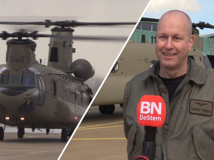 Nieuwe chinooks op vliegbasis Gilze-Rijen: 'Ze maken helaas evenveel geluid als de oude'