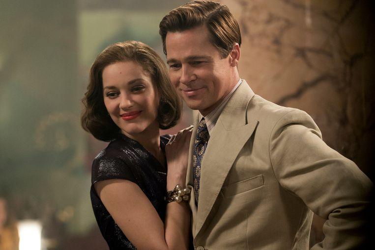Marion Cotillard en Brad Pitt in 'Allied'. Beeld AP