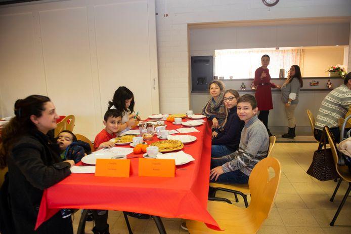 Sinterklaasfeest voor kansarme gezinnen in Zandhoven.