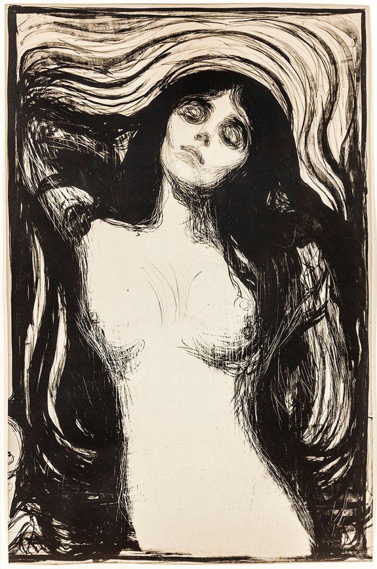 null Beeld Madonna © Edvard Munch in Museum De Reede