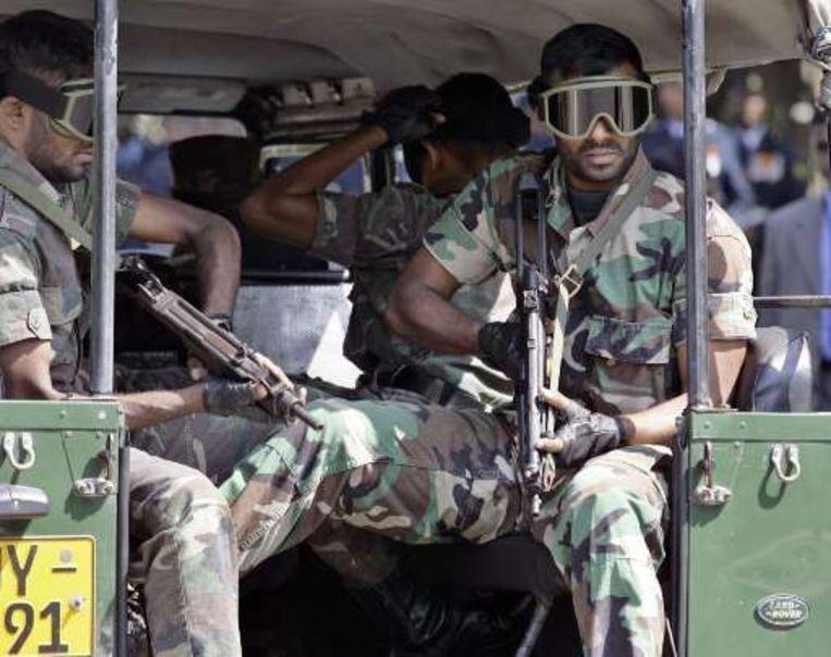 Sri Lankaanse legertroepen. Beeld UNKNOWN