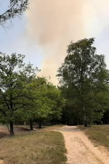 Bosbrand Herperduin zorgt voor flinke rookkolom, vuur onder controle