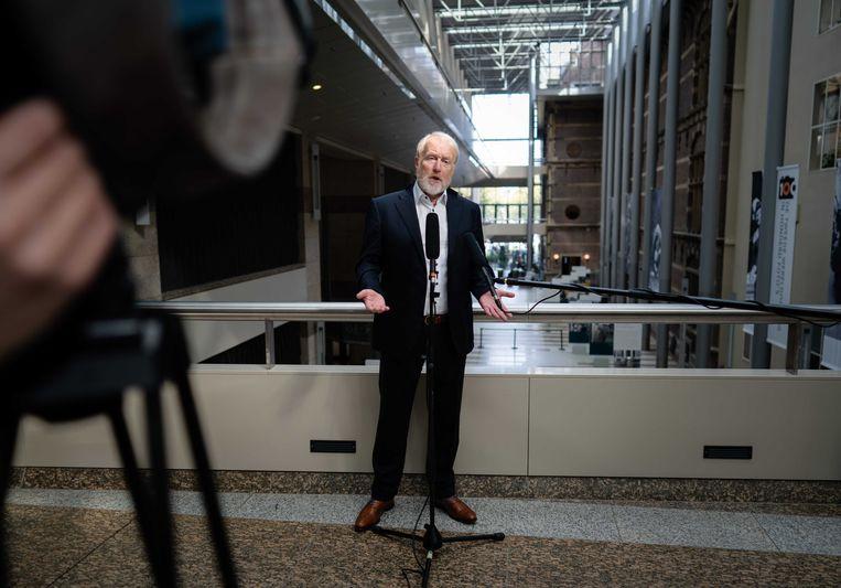 Directeur RIVM Jaap van Dissel na afloop  van een technische briefing in de Tweede Kamer over het coronavirus. Beeld ANP