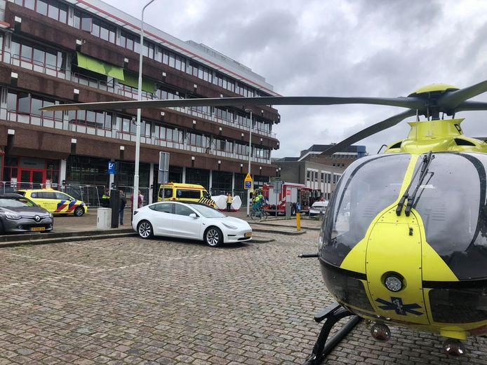 De traumahelikopter kwam ter plaatse bij het ongeval aan de in Eindhoven.