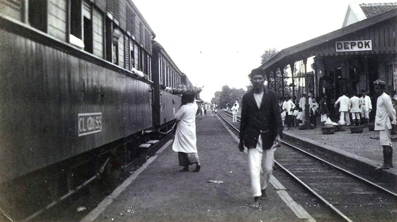 Station Depok op West-Java.