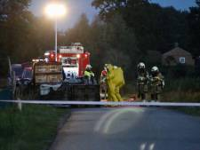 Megadumping van 21000 liter drugsafval bij Beers, gespecialiseerde eenheid ruimt lekkende vaten op