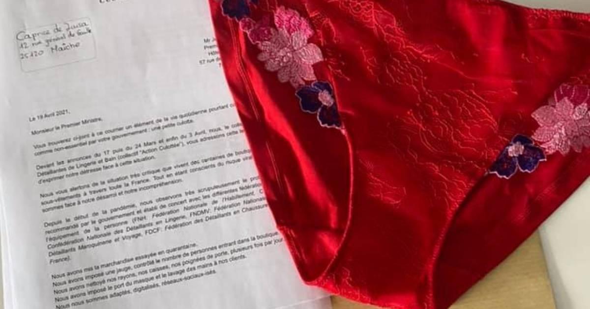 Franse lingeriewinkeliers sturen premier 80 slipjes uit protest tegen coronasluiting