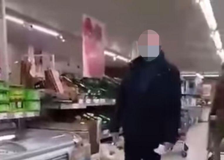 De video van het incident ging afgelopen weekend viraal. Beeld rv