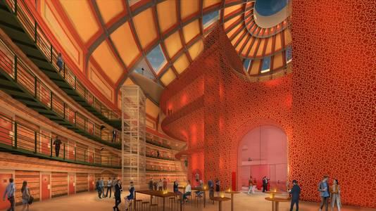 Impressie van Stadstheater in Koepelgevangenis. Dit plan is inmiddels afgeschoten.