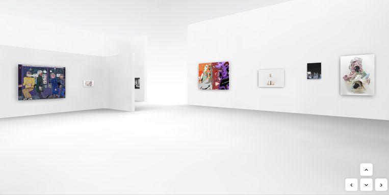 'In afwezigheid van de kunstenaar' is een virtuele expo op maat van het web. Beeld RV