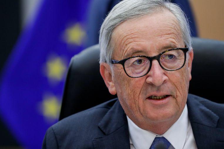 De uittredende voorzitter van de Europese Commissie, Jean-Claude Juncker Beeld EPA