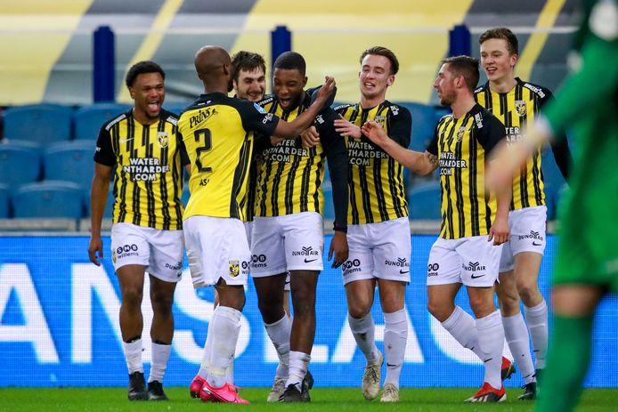 Riechedly Bazoer is het stralende middelpunt bij Vitesse, na zijn goal tegen RKC.