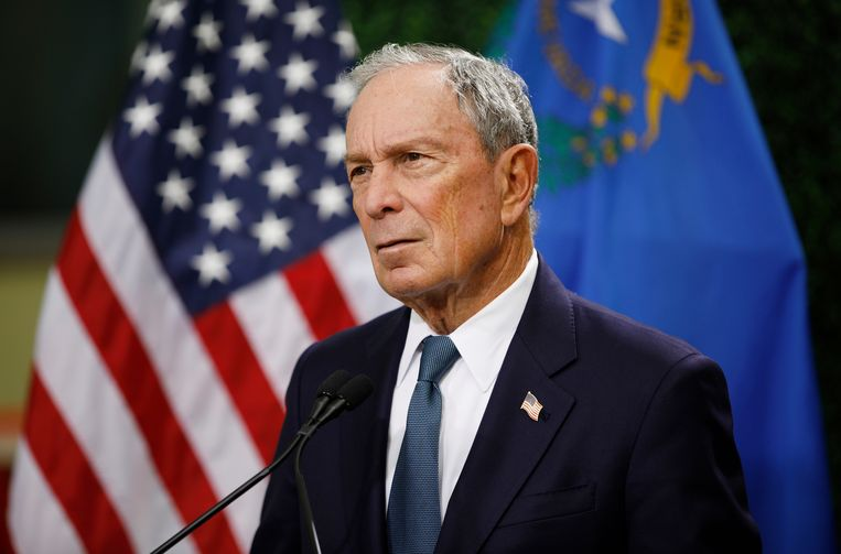 Bloomberg wordt nu al een 'He Too'-kandidaat genoemd omdat hij onder vuur ligt voor zijn brutaal gedrag tegenover vrouwen. Beeld AP