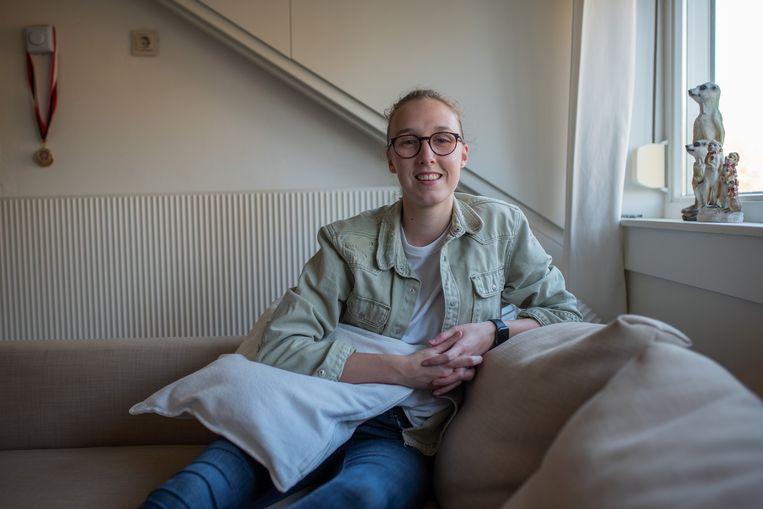 Frederique Visser leende voor universitaire fysiotherapie. Beeld Sabine van Wechem