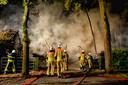 Brandweerlieden aan het werk in Putte.