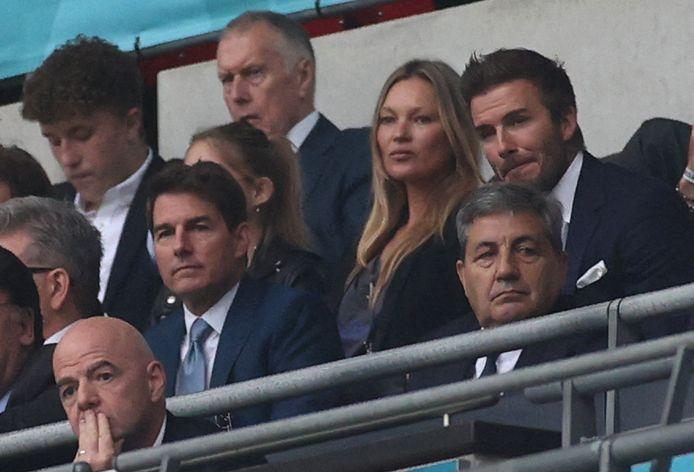 Aan bekend volk geen gebrek op de eretribune: Tom Cruise, David Beckham en Kate Moss.