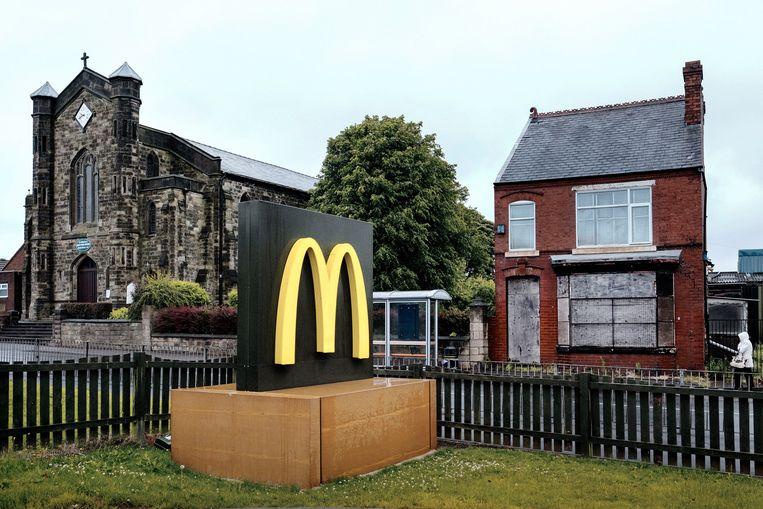 Dudley, in Sandwell, is een van de armere plaatsen in Engeland. 66.7 procent stemde voor brexit.  Beeld Merlin Daleman