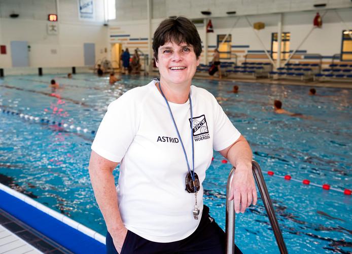 Eén van de taken van Astrid Klok bij ZPC Woerden is het geven van training. Twee keer in de week doet ze dat al vanaf zes uur in de ochtend.