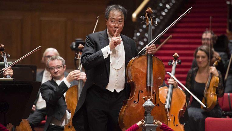 Gastsolist Yo-Yo Ma wist niet altijd de juiste intonatie te treffen. Beeld ANP