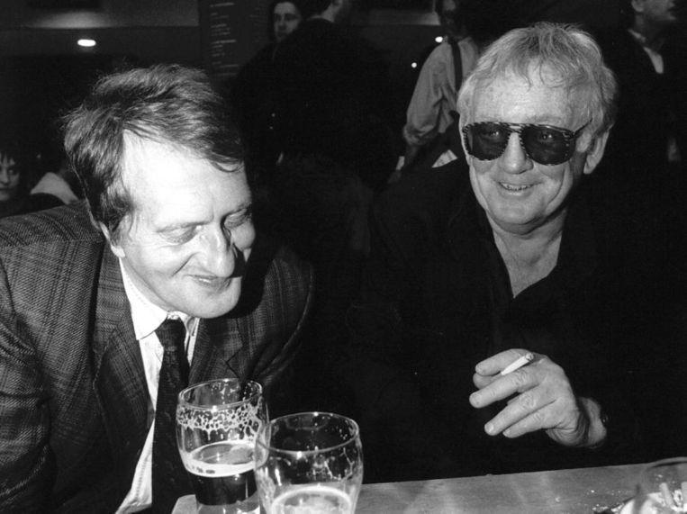 In 1990 tijdens de Nacht van de Poëzie met Hugo Claus. Beeld ANP