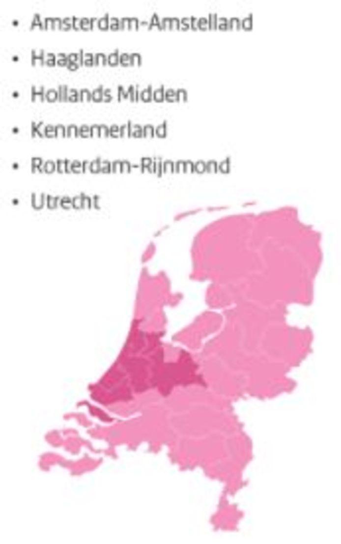 In deze zes Nederlandse regio's gaan strengere coronaregels gelden.