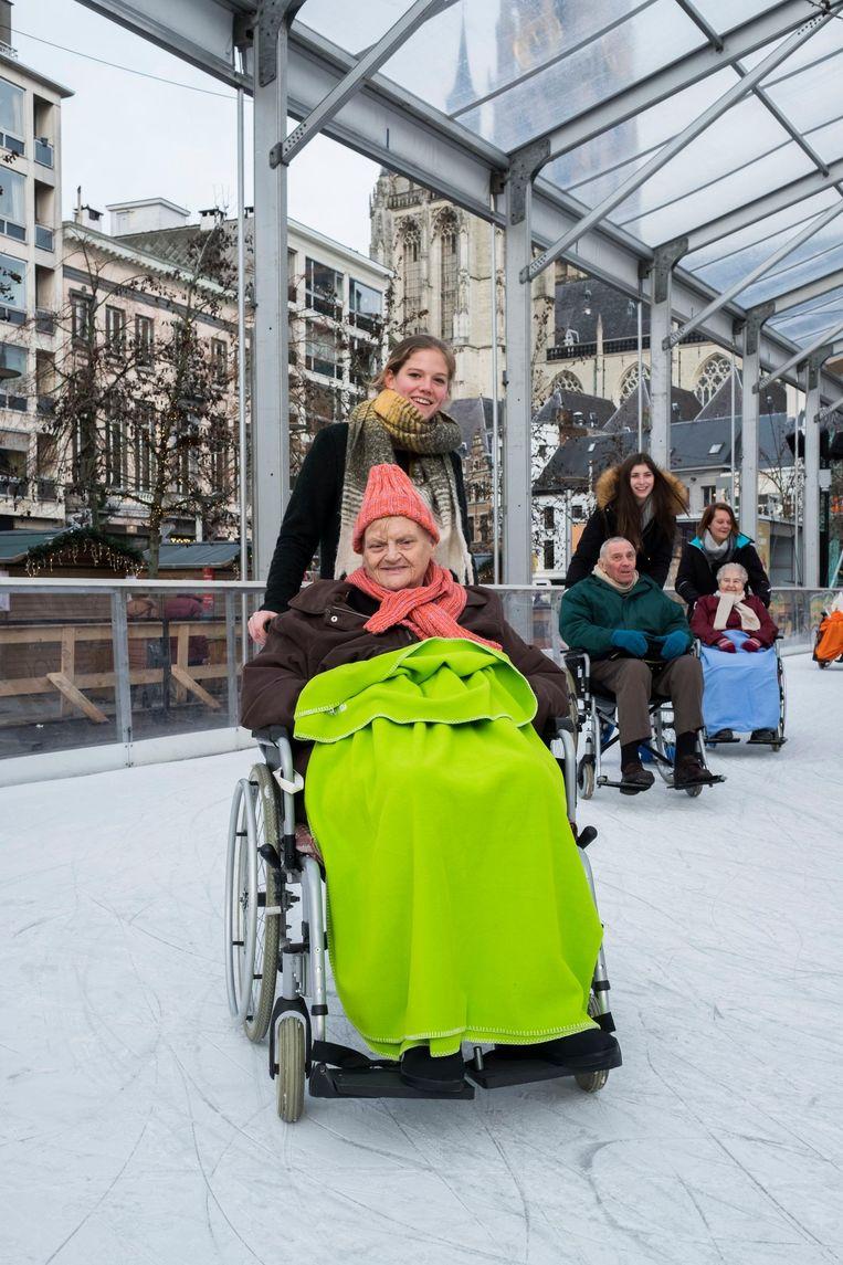 Lydia (73) en Jos (87), de vader van Gert Verhulst, waren ook van de partij.