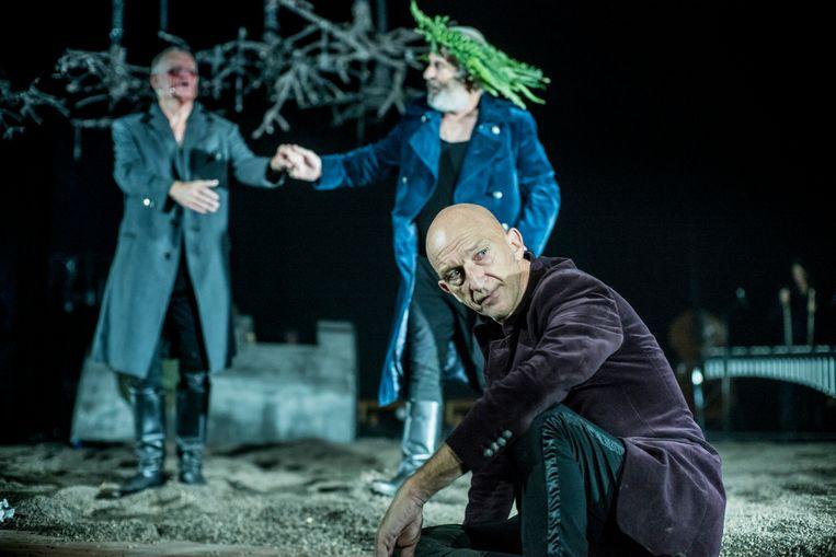 Scène uit King Lear met Wilfried de Jong als Nar. Beeld Ben van Duin