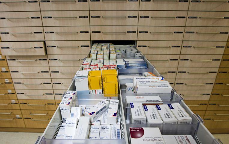 Geneesmiddelen in een apotheek. Beeld ANP