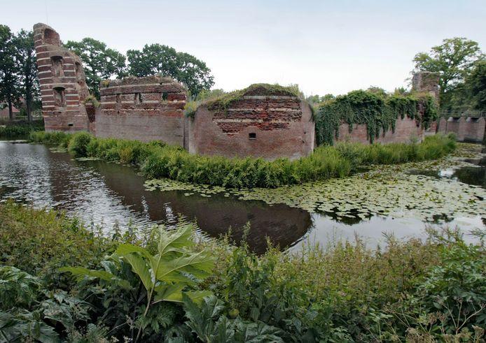 Archieffoto van de ruïne van Batenburg.
