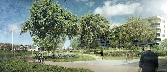 In 2021 moet het Nederhempark klaar zijn in Halle.
