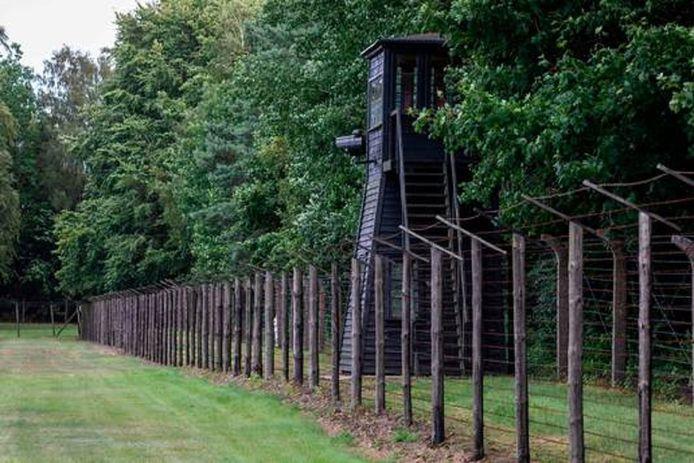 Een van de 25 wachttorens in het voormalige concentratiekamp Stutthof.