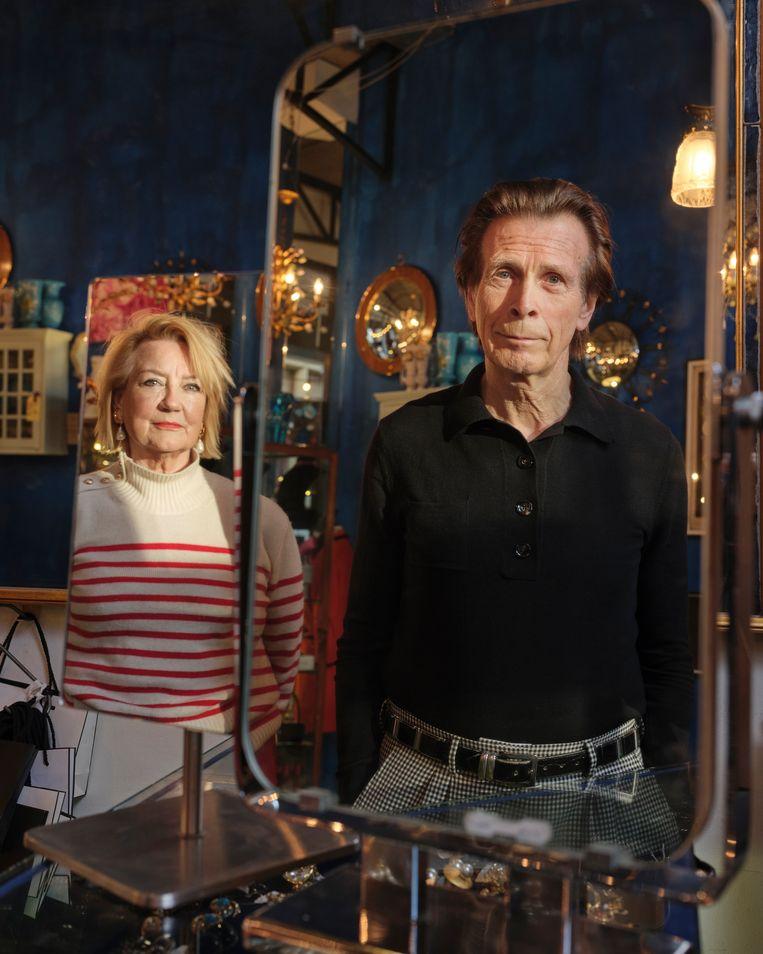 Toneelechtpaar Trudy de Jong & Theo de Groot. De Jong: Wij maken wat ons interesseert, wat ons bezighoudt.' Beeld Erik Smits