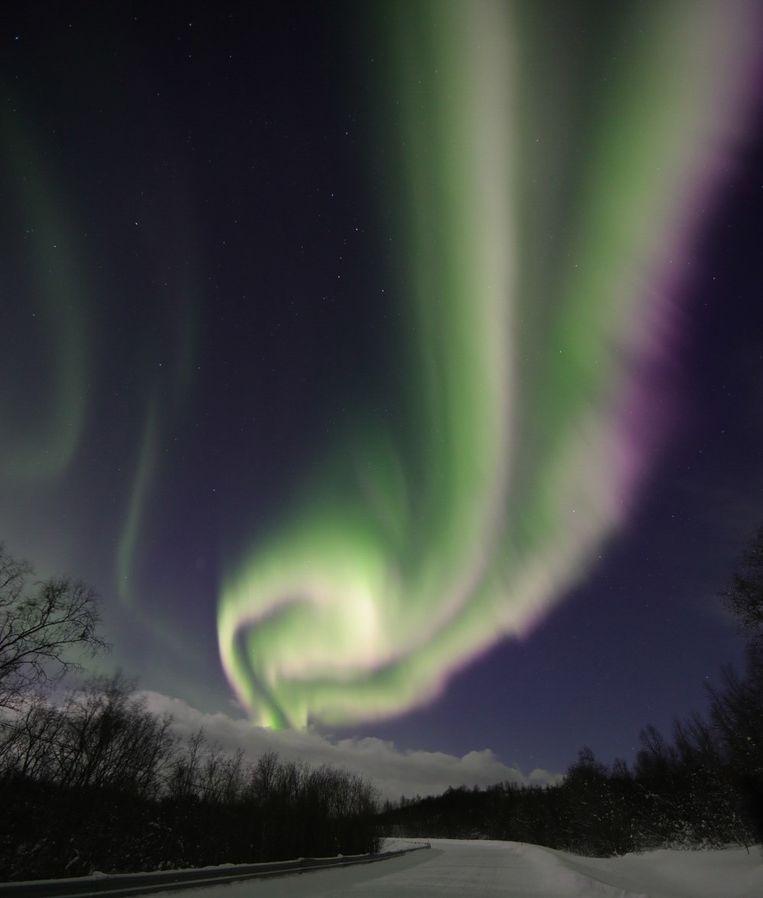 Het noorderlicht in Noorwegen.