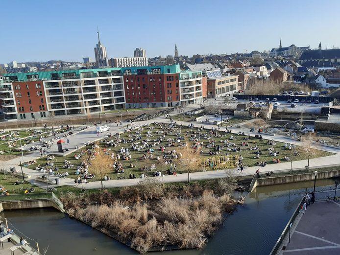 Sluispark Leuven op woensdagnamiddag
