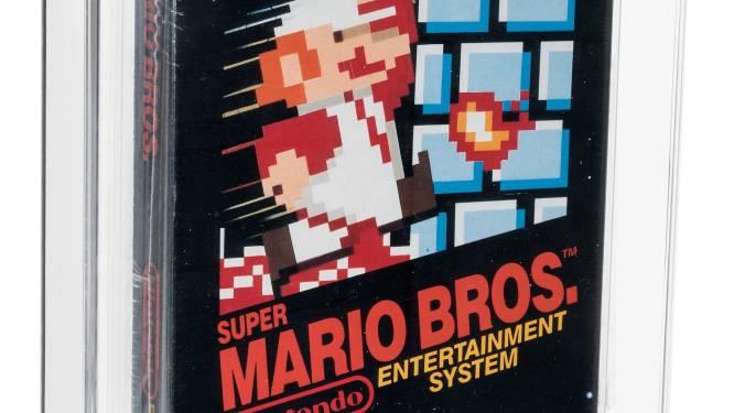 Duurste game ooit: Super Mario Bros verkocht voor 660.000 dollar