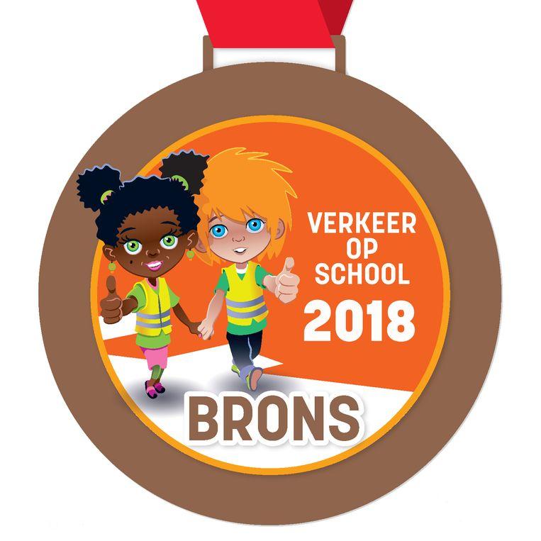 De medaille die De Wegwijzer heeft gekregen.