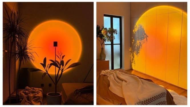 "Lamp die zonsondergang nabootst gaat viraal. ""Het stabiliseert je slaappatroon"", zegt expert"