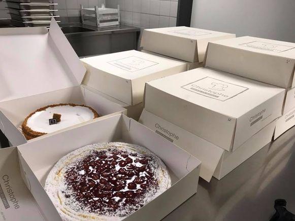 De smakelijke taarten.