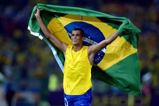 Rivaldo lors la Coupe du monde 2002 remportée par le Brésil